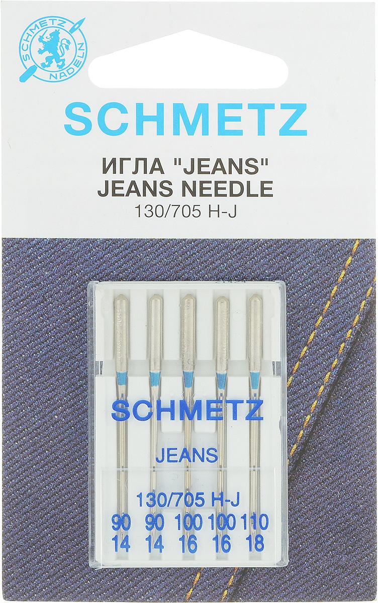 Иглы для швейных машин Schmetz, для джинсовой ткани, № 90-110, 5 шт22:30.MA2.VWSСпециальные иглы Schmetz, выполненные из высококачественной стали, подходят для бытовых швейных машин. В набор входят иглы, которые идеально подходят для работы с джинсовой тканью. В комплекте пластиковый футляр для переноски и хранения. Размер: 90 х 2, 100 х 2, 110 х 1.