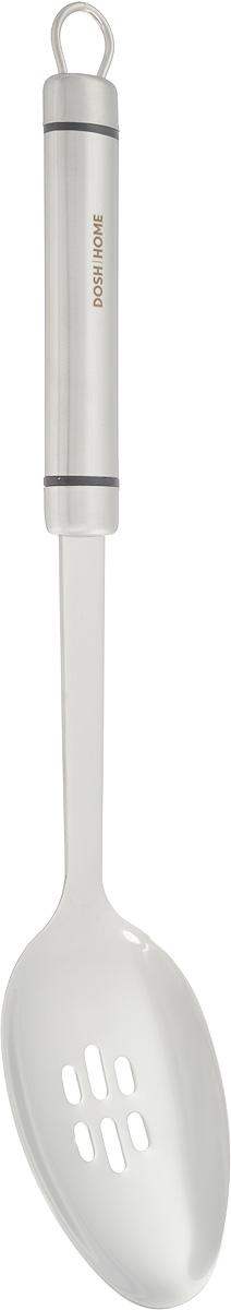 Ложка кулинарная Dosh Home Orion, с отверстиями, длина 35 см100105Кулинарная ложка Dosh Home Orion изготовлена из высококачественной нержавеющей стали. Ручка оснащена петелькой для подвешивания. Ложка с отверстиями Dosh Home Orion станет вашим незаменимым помощником на кухне, а также это практичный и необходимый подарок любой хозяйке! Можно мыть в посудомоечной машине. Размер рабочей поверхности: 10,5 х 7 см. Общая длина ложки: 35 см.