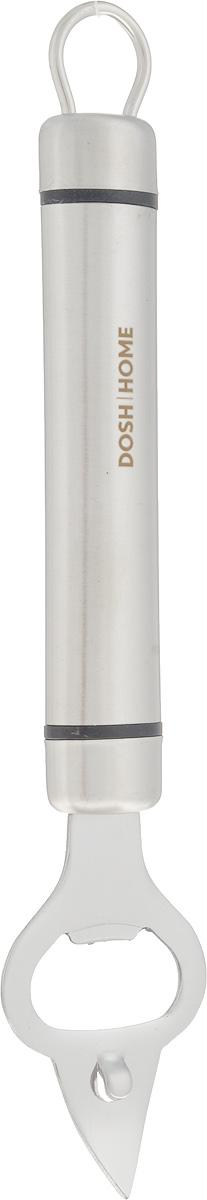 Открывалка для бутылок Dosh Home Orion, длина 21 см100115Открывалка для бутылок Dosh Home Orion - незаменимый аксессуар на любой кухне. Специальная форма изделия позволяет с легкостью открывать металлические крышки. Открывалка выполнена из высококачественной нержавеющей стали. Эргономичная ручка оснащена петелькой, с помощью которой вы можете подвесить изделие у себя на кухне в удобном месте. Можно мыть в посудомоечной машине. Длина открывалки: 21 см.