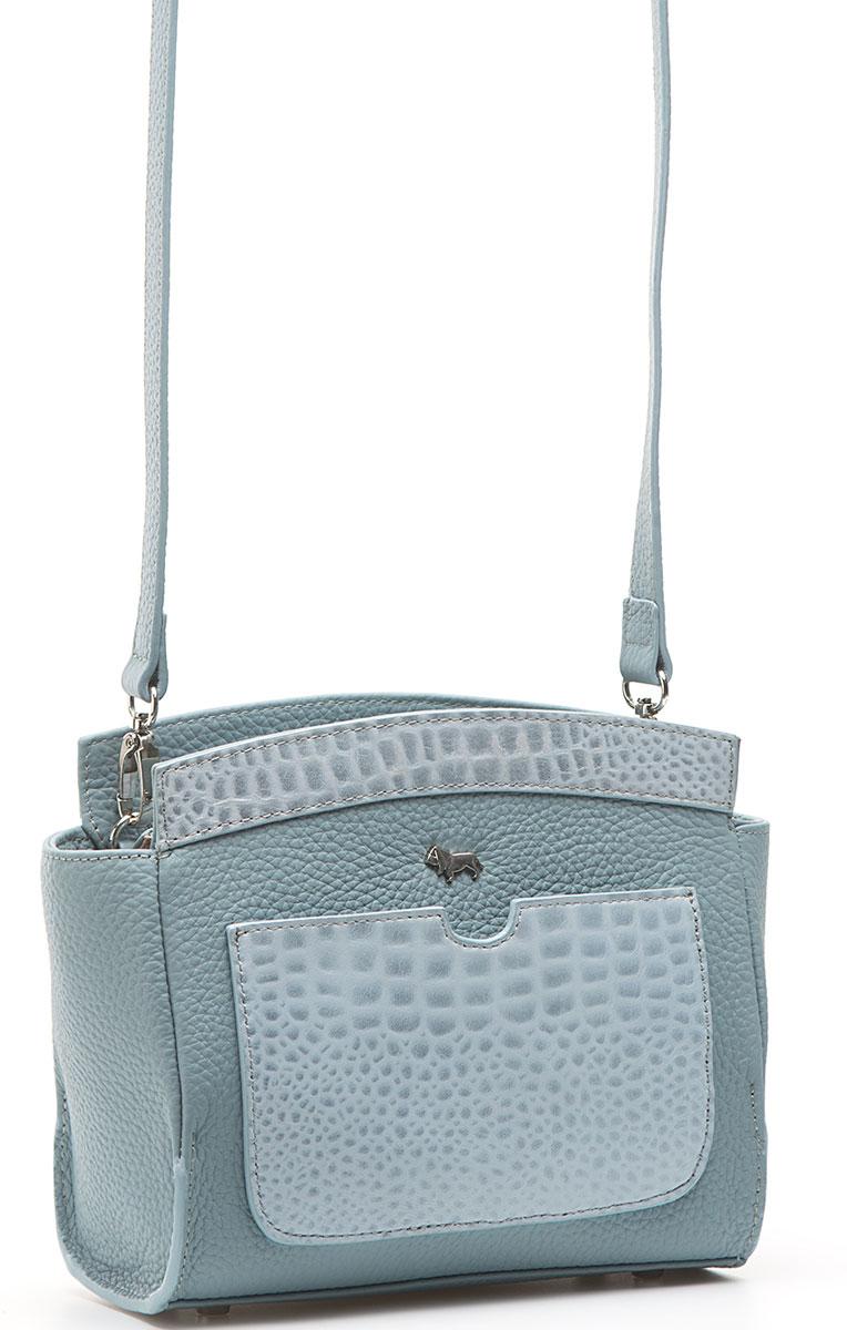 Сумка женская Labbra, цвет: голубой. L-SD1351L-SD1351Женская сумка торговой марки LABBRA из натуральной кожи. Модель закрывается на металлическую молнию. Внутри - два отделения, разделенные средником на молнии, в одном имеется карман на молнии, в другом - карман для мобильного телефона и открытый карман. Сумка имеет ножки на дне, а так же открытый карман на передней стенке и карман на задней стенке. Длина наплечного ремня - 125 см.