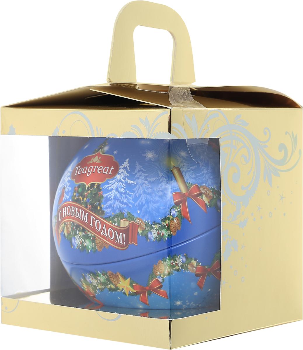 Дольче Вита Новогодний черный листовой чай (цвет голубой), 50 г