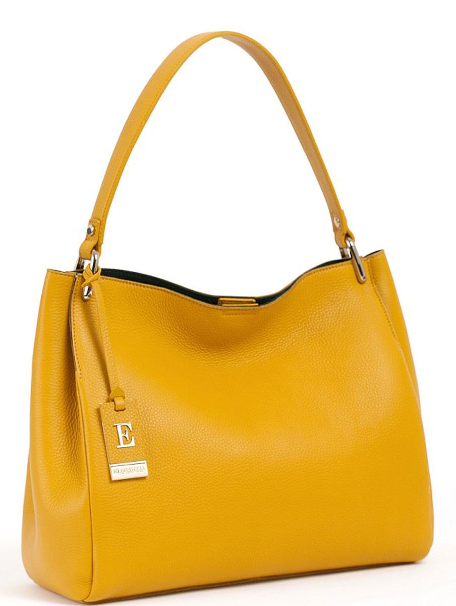 Сумка женская Eleganzza, цвет: желтый, зеленый. Z-14667-1Z-14667-1Женская сумка торговой марки ELEGANZZA из натуральной кожи. Сумка закрывается на магнит. Внутри - одно отделение, в котором нет подкладки и карманов. Модель свободно вмещает формат А4. Высота ручки - 24 см.