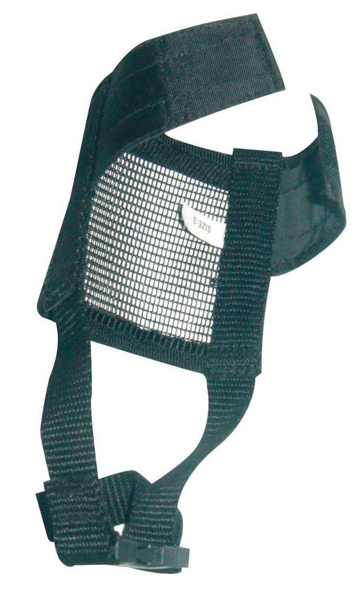 Намордник для собак Dezzie, размер L. 56011405601140Намордник изготовлен из мягкой и легкой нейлоновой сетки и легко стирается. Удобная застежка на липучке.