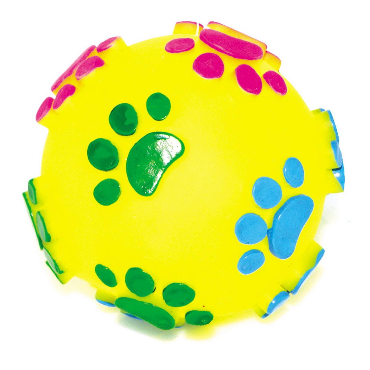 Игрушка для собак Dezzie Мяч. Большие лапы, диаметр 7,5 см5604001Игрушка для собак Dezzie Мяч. Большие лапы изготовлена из винила в виде мяча с изображением лап. Такая игрушка практична, функциональна и совершенно безопасна для здоровья животного. Ее легко мыть и дезинфицировать. Игрушка очень легкая, поэтому собаке совсем нетрудно брать ее в пасть и переносить с места на место. Игрушка для собак Dezzie Мяч. Большие лапы станет прекрасным подарком для неугомонного четвероногого питомца. Диаметр мяча: 7,5 см.