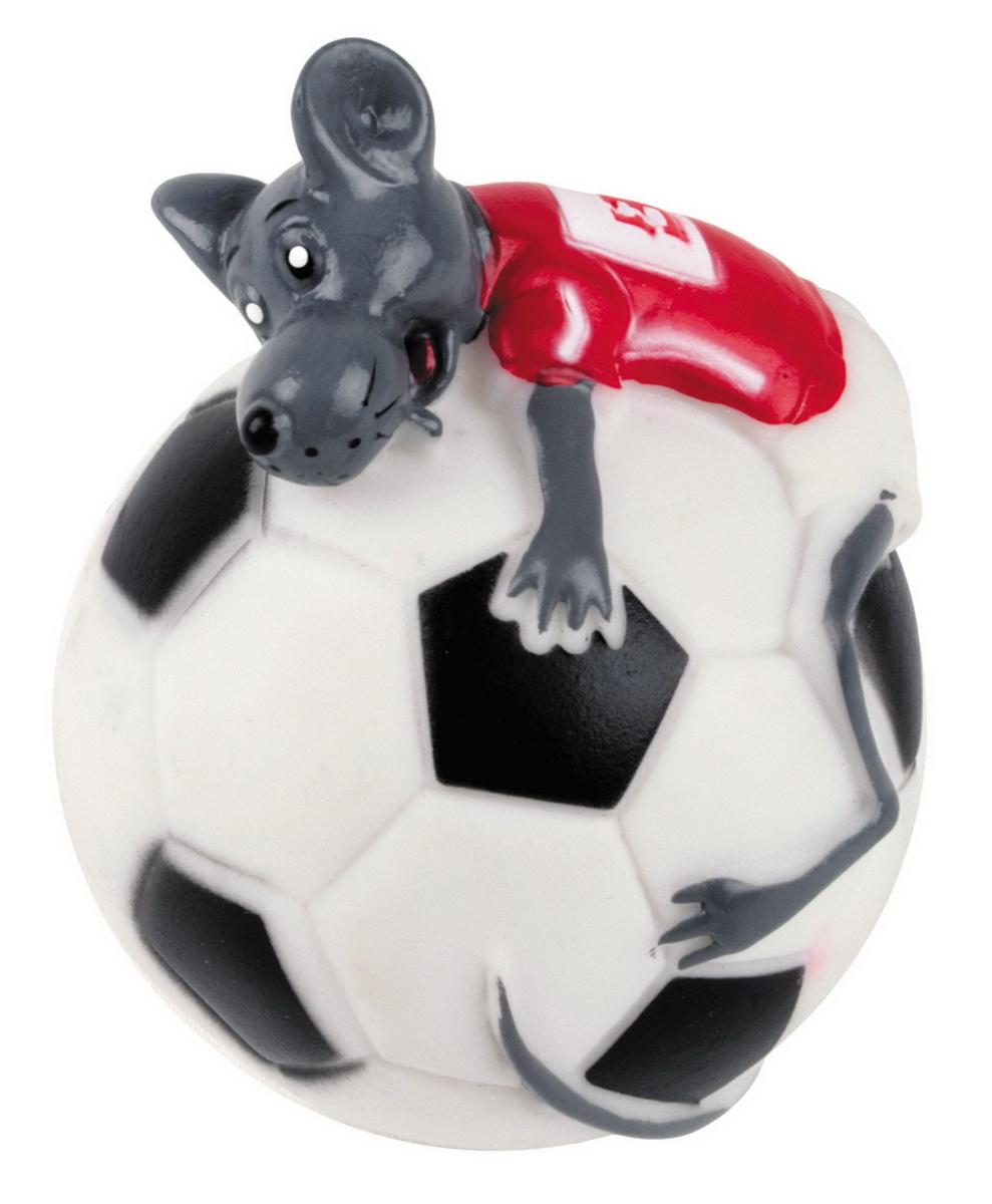 Игрушка для собак Dezzie Мяч. Мышиный футбол, диаметр 10 см5604139Игрушка для собак Dezzie Мяч. Мышиный футбол изготовлена из винила в виде футбольного мяча с мышонком. Такая игрушка практична, функциональна и совершенно безопасна для здоровья животного. Ее легко мыть и дезинфицировать. Игрушка очень легкая, поэтому собаке совсем нетрудно брать ее в пасть и переносить с места на место. Игрушка для собак Dezzie Мяч. Мышиный футбол станет прекрасным подарком для неугомонного четвероногого питомца. Диаметр мяча: 10 см.