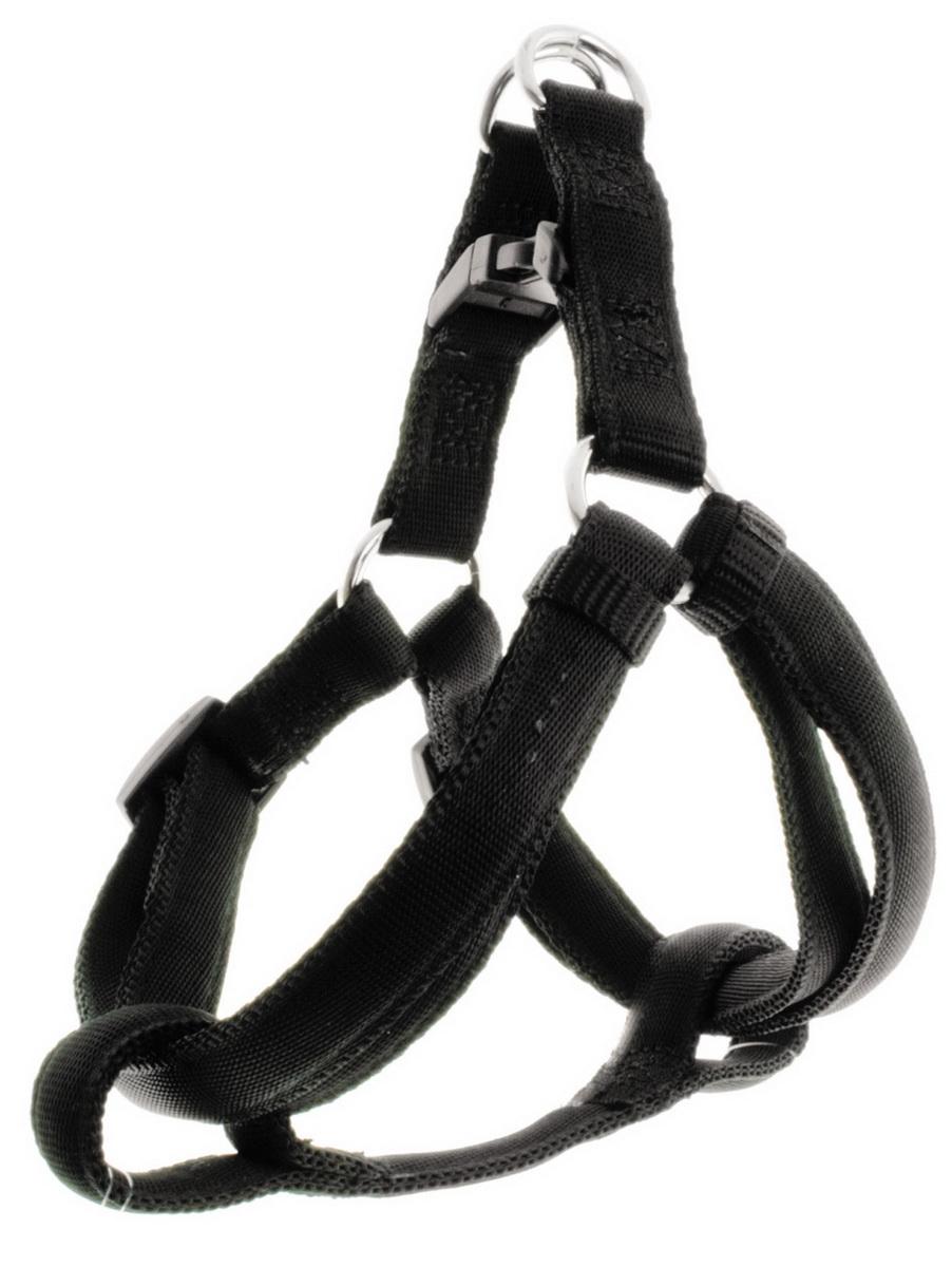 Шлейка для собак Dezzie, цвет: черный, ширина 1,5 см, обхват груди 35-50 см5609041Шлейка для собак. Стильная и красивая амуниция. Имеет эффектный внешний вид.