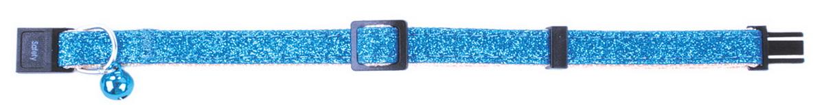Ошейник для кошек Dezzie, цвет: голубой, обхват шеи 21-33 см, ширина 1 см. 56093845609384Ошейник для кошек. Стильная и красивая амуниция. Имеет эффектный внешний вид.