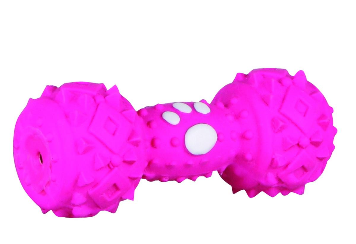 Игрушка для собак Dezzie Гантель, цвет: розовый, длина 10 см5620118Игрушка для собак Dezzie Гантель изготовлена из латекса. Она безопасна для здоровья животного. Латекс не твердеет под действием желудочного сока, поэтому игрушку можно смело покупать даже самым маленьким щенкам. Очаровательная игрушка обеспечит досуг собаке и не позволит ей скучать. Длина игрушки: 10 см.