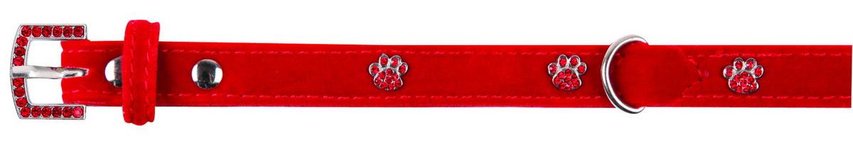 Ошейник для собак Dezzie, обхват шеи 18-23 см, ширина 1 см. Размер XS. 56240545624054Ошейник для собак. Стильная и красивая амуниция, украшенная стразами. Имеет эффектный внешний вид.