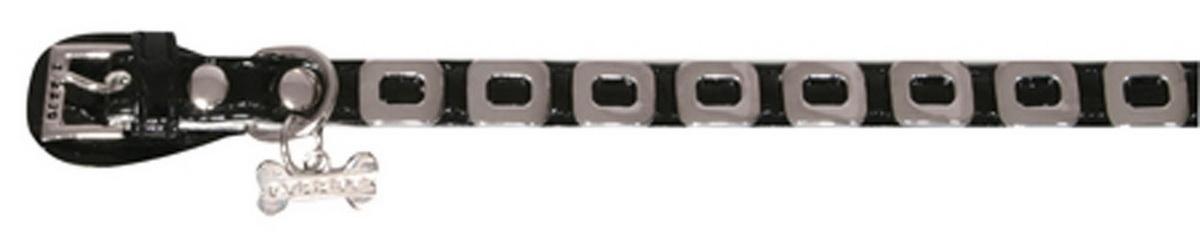Ошейник для собак Dezzie, цвет: черный, обхват шеи 25 см, ширина 1 см. Размер XS. 56243495624349Ошейник для собак Dezzie изготовлен из искусственной кожи и декорирован металлическими элементами и подвеской в виде косточки со стразами. Он устойчив к влажности и перепадам температур. Клеевой слой, сверхпрочные нити и крепкие металлические элементы делают ошейник надежным и долговечным. Имеется металлическое кольцо для крепления поводка. Изделие отличается высоким качеством, удобством и универсальностью, а также имеет эффектный внешний вид. Обхват шеи: 25 см. Ширина ошейника: 1 см.