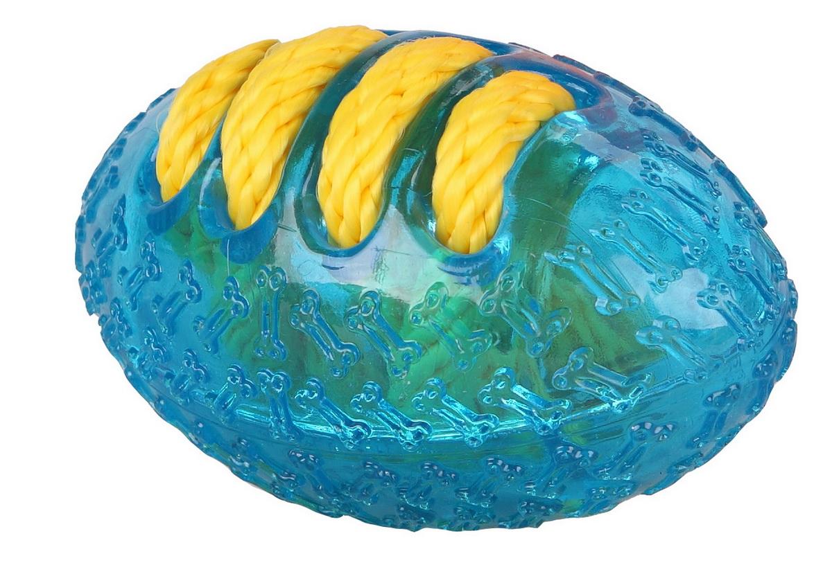 Игрушка для собак Dezzie Мяч. Американский футбол, 14 см5638001Игрушка для собак Dezzie Мяч. Американский футбол изготовлена из резины в виде мяча американского футбола. Игрушки из резины созданы из безопасного и прочного материала, поэтому их спокойно можно использовать при длительных занятиях с любимцем. Особенно они придутся по душе обожающим водные забавы питомцам и их владельцам. Такие игрушки не тонут и станут замечательным развлечением при апортировочных играх на воде. Эластичность резины и специальные выступы на поверхности игрушек способствуют тренировке жевательных мышц, очищению зубов и массажу десен собаки. Игрушка для собак Dezzie Мяч. Американский футбол станет подарком активному питомцу, чьи хозяева заботятся о здоровье и правильном развитии собаки. Длина игрушки: 14 см.