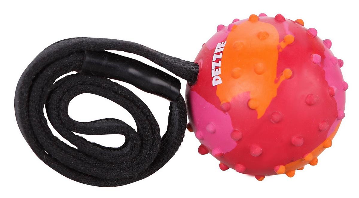 """Игрушка для собак Dezzie """"Мечта"""" на веревке, со вкусом мяса, 37 см 5638413"""