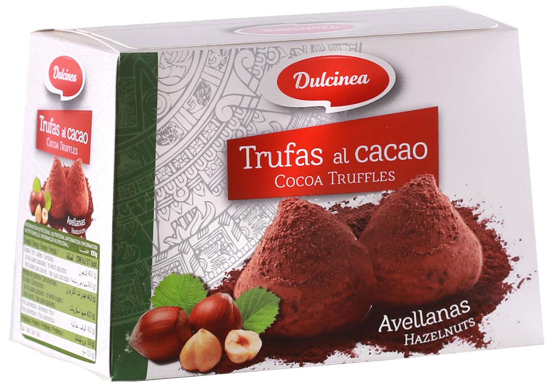Dulsinea трюфели шоколадные со вкусом лесных орехов, 200 г8410510105065Нежно-тающая дымка превосходного шоколада из Испании окутает вас блаженством. Этот десерт создан для истинных ценителей колоритных сладостей с ярким и изысканным вкусом.