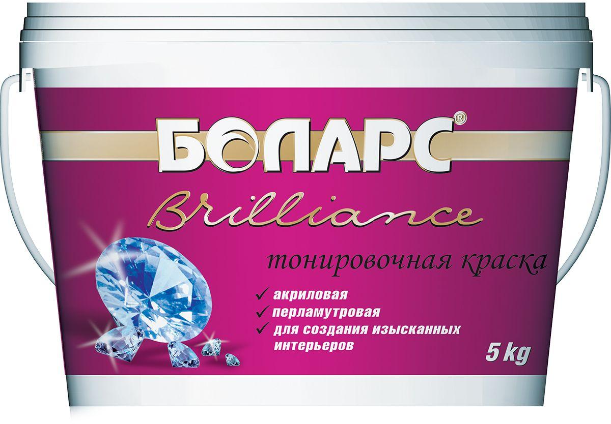 """Краска Боларс """"Vavilon-Brilliance (Б100)"""", тонировочная, перламутровая краска для декоративных покрытий, 5 кг 00000007615"""