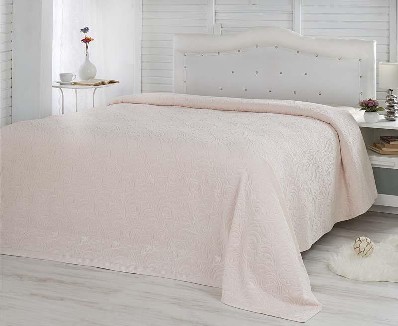 Простыня махровая Karna Esra, цвет: абрикосовый, 200 x 220 см1788/CHAR007