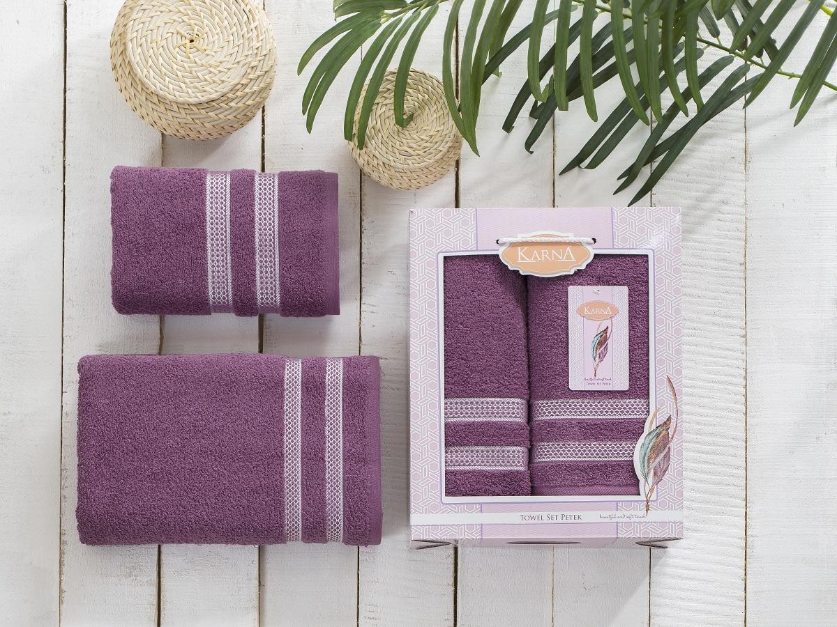 Набор полотенец Karna Petek, цвет: светло-лавандовый, 2 шт2040/CHAR011