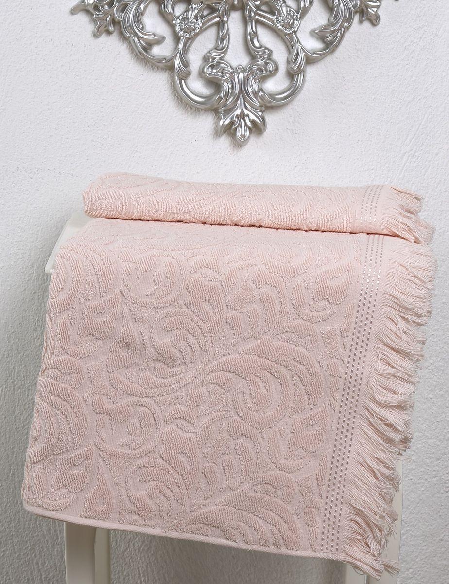 Полотенце Karna Esra, цвет: абрикосовый, 70 х 140 см2195/CHAR002