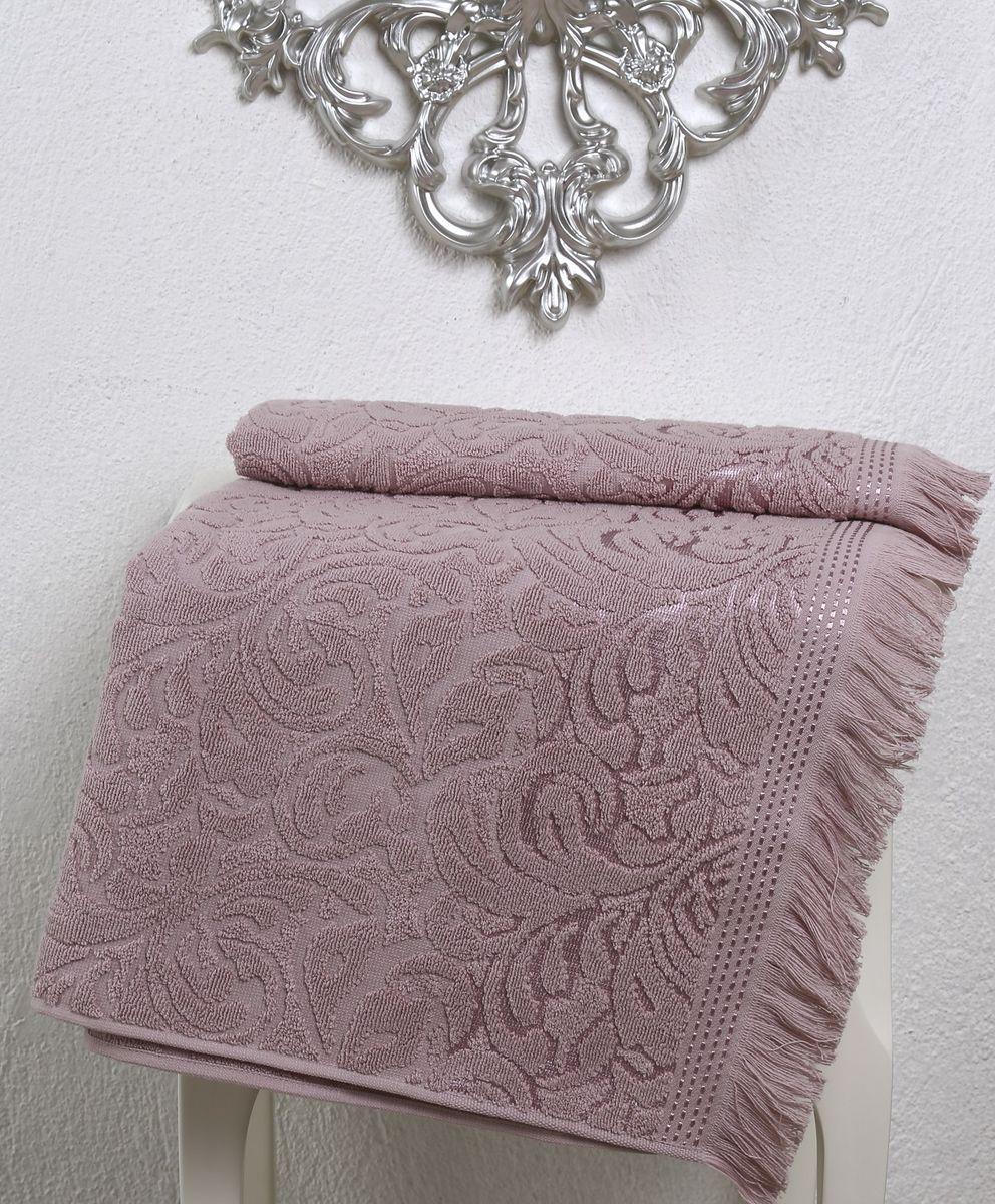 Полотенце Karna Esra, цвет: пыльная роза, 70 х 140 см2195/CHAR004