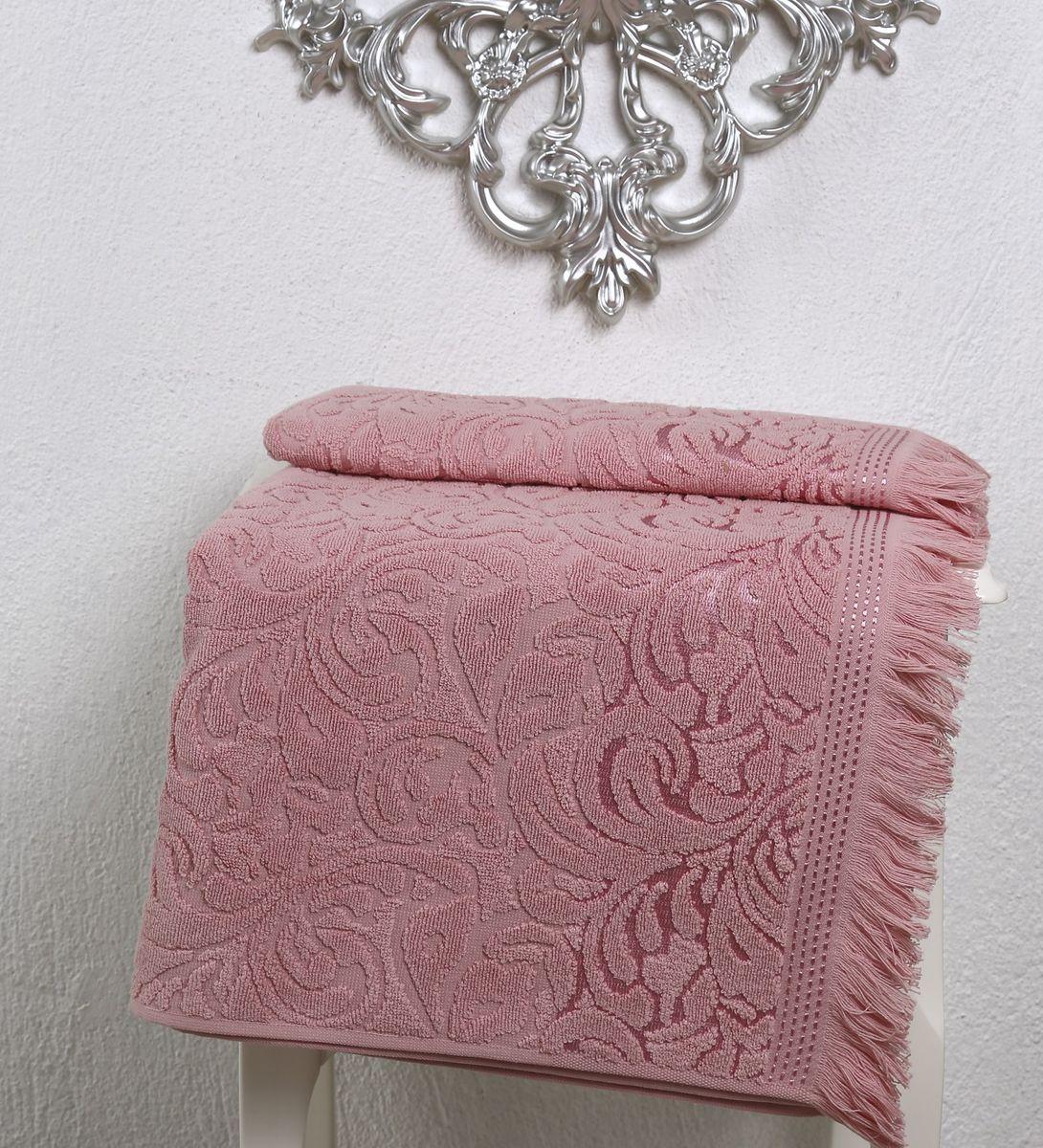 Полотенце Karna Esra, цвет: розовый, 70 х 140 см2195/CHAR006