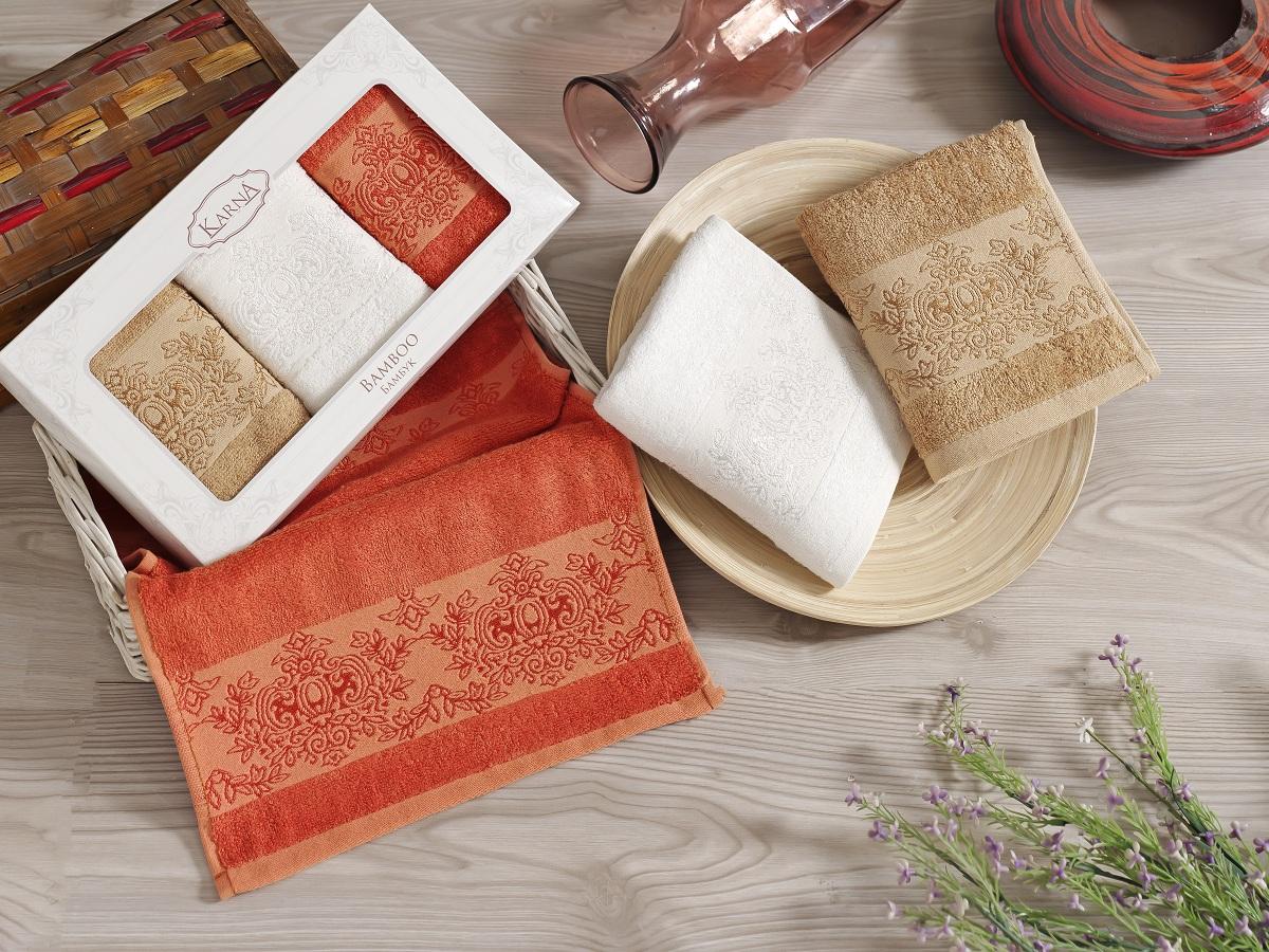 Набор кухонных полотенец Karna Pandora, 30 х 50 см, 3 шт. 2199/CHAR0032199/CHAR003