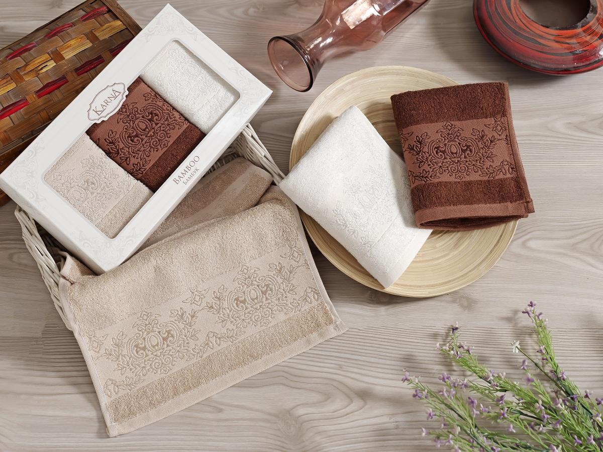 Набор кухонных полотенец Karna Pandora, 30 х 50 см, 3 шт. 2199/CHAR0052199/CHAR005