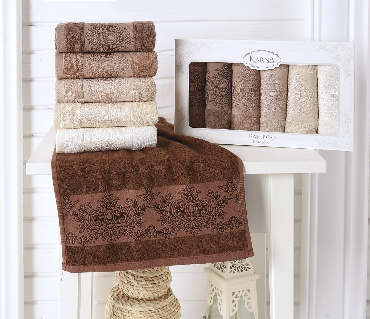 Набор кухонных полотенец Karna Pandora, 30 х 50 см, 6 шт. 2200/CHAR0032200/CHAR003