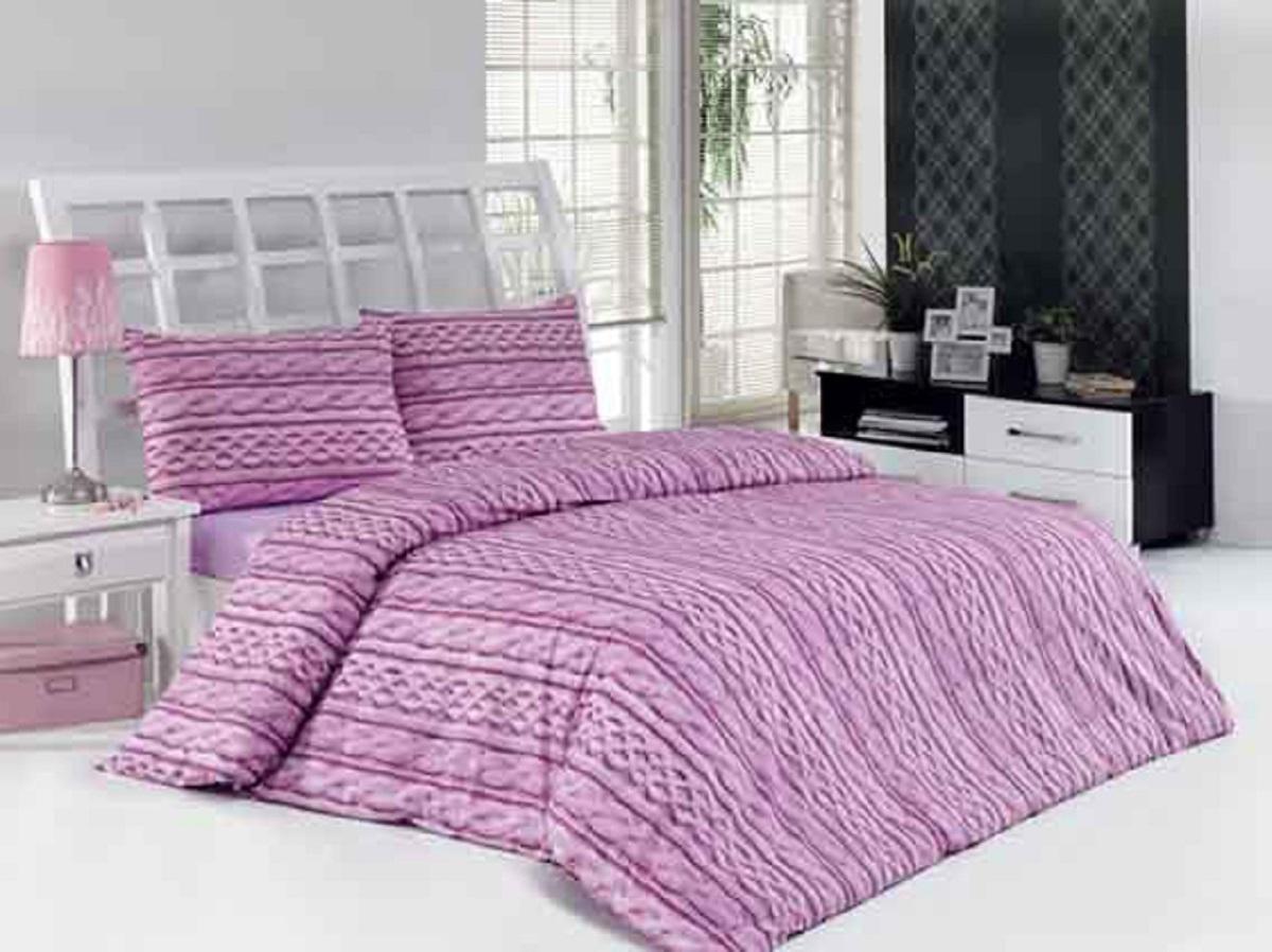 Комплект белья Altinbasak Tweed, 2-спальный, наволочки 50х70, цвет: сиреневый250/1/85/CHAR002