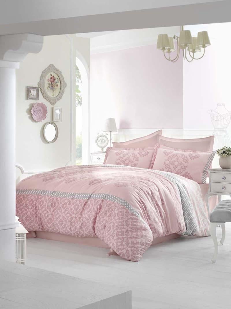 Комплект белья Altinbasak Alona, 2-спальный, наволочки 50х70, цвет: розовый256/22/CHAR002