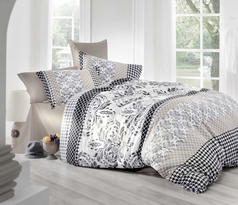 Комплект белья Altinbasak Risha, 2-спальный, наволочки 50х70, цвет: золотистый256/27/CHAR001