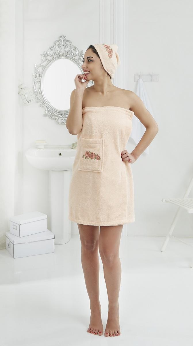 Набор для сауны женский Karna Pera, цвет: абрикосовый, 2 предмета2607/CHAR001