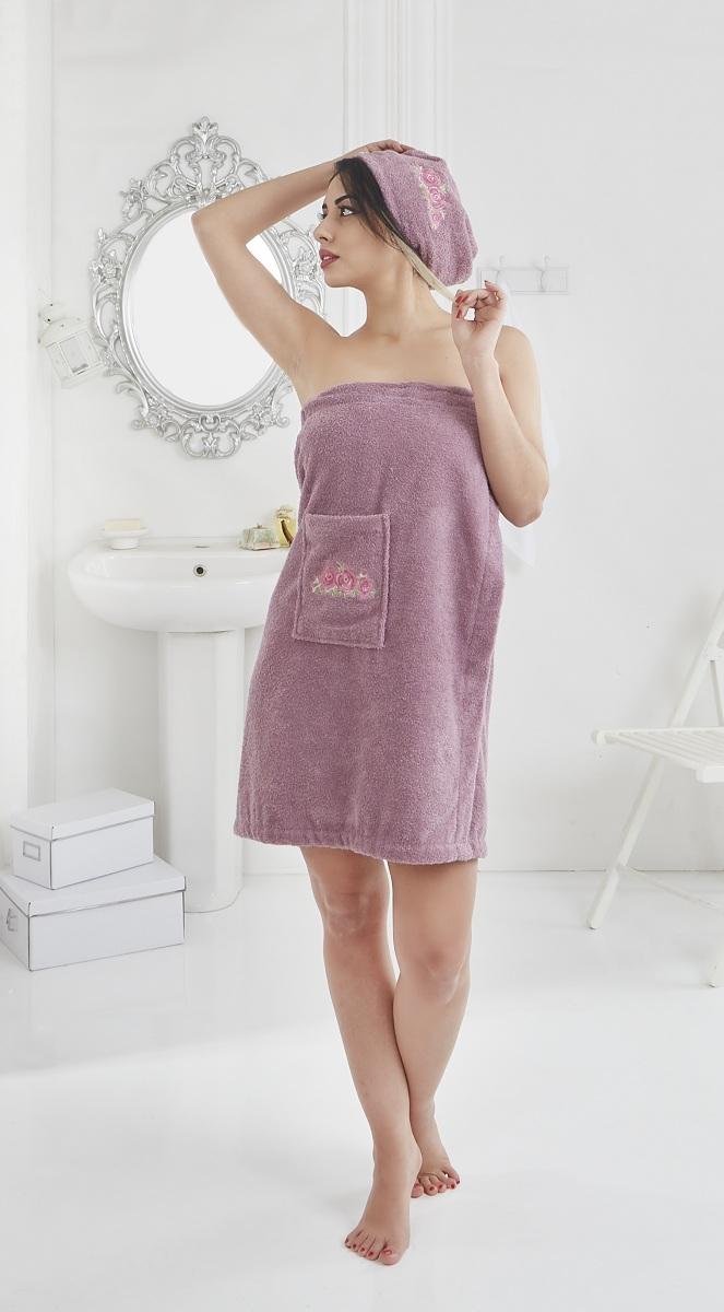 Набор для сауны женский Karna Pera, цвет: фиолетовый, 2 предмета2607/CHAR006