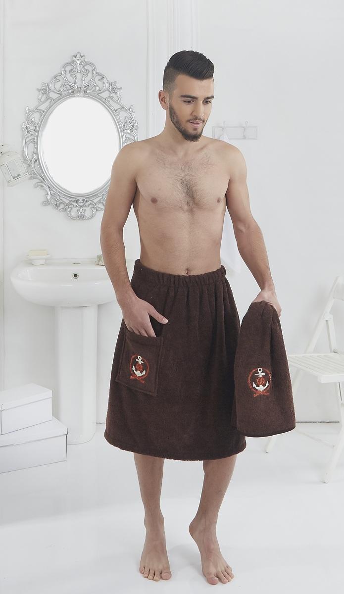 Набор для сауны мужской Karna Pamir, цвет: коричневый, 2 предмета2608/CHAR002