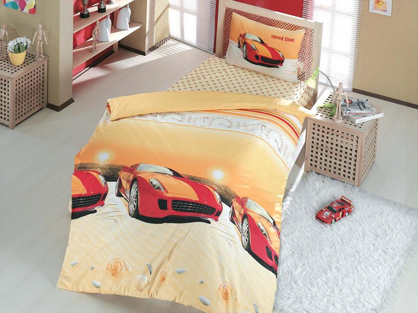 Комплект белья Altinbasak Speed Time, 1,5-спальный, наволочки 50х70, цвет: красный2964CHAR002