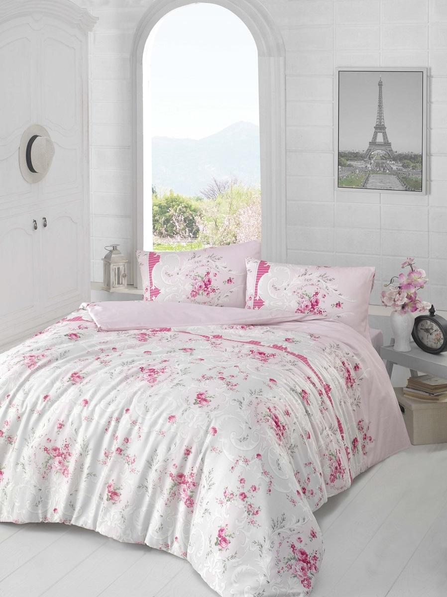 Комплект белья Altinbasak Duru, 2-спальный, наволочки 50х70, цвет: сиреневый297/12/CHAR003