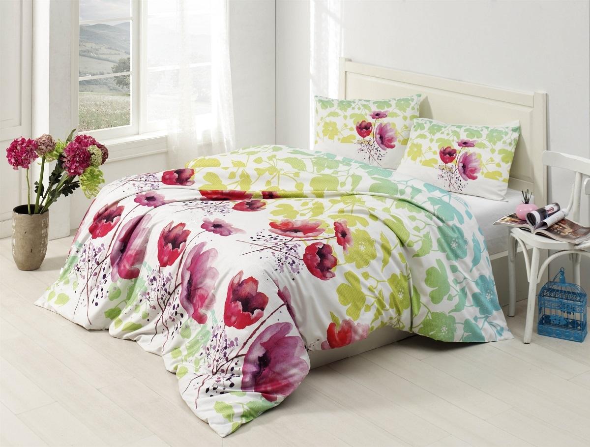 Комплект белья Altinbasak Elfin, 2-спальный, наволочки 50х70, цвет: зеленый297/15/CHAR001
