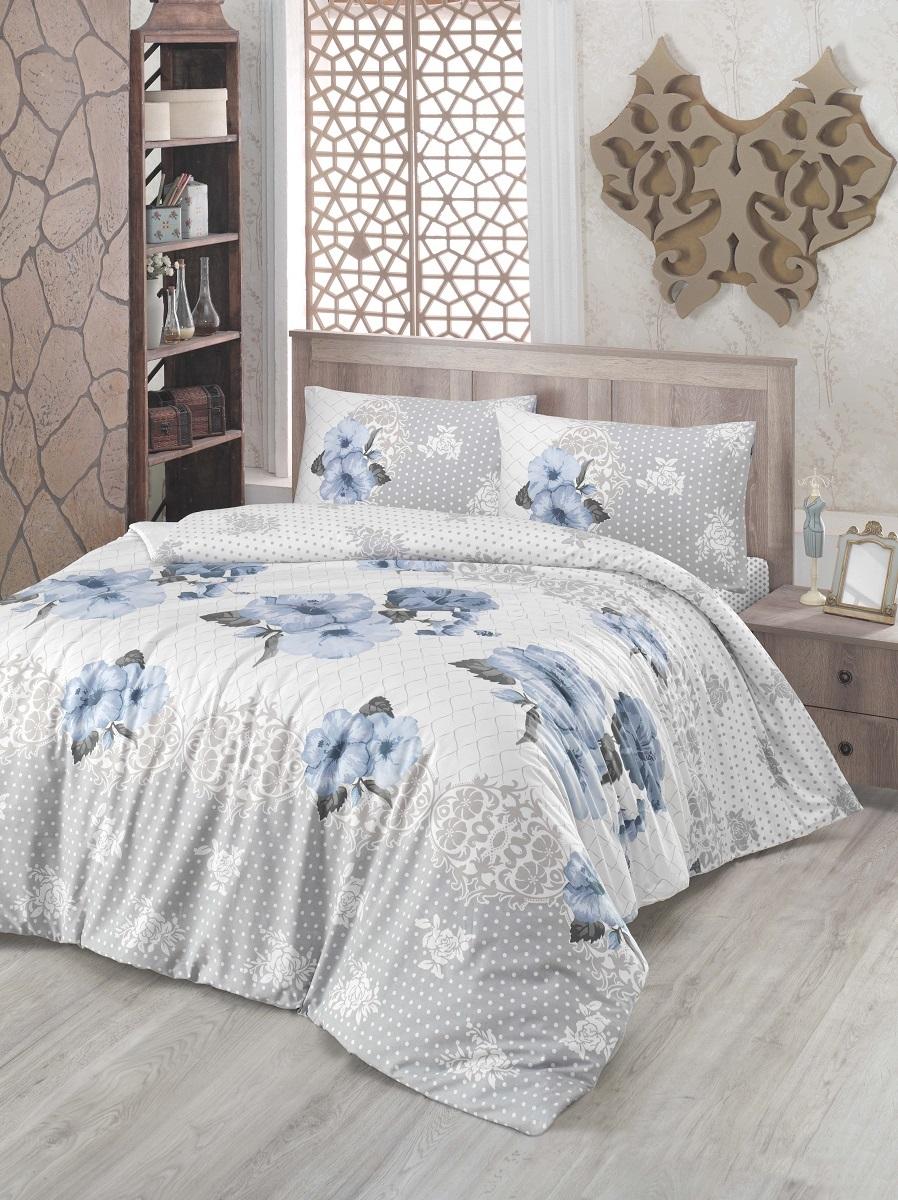 Комплект белья Altinbasak Guldem, 2-спальный, наволочки 50х70, цвет: голубой297/17/CHAR001