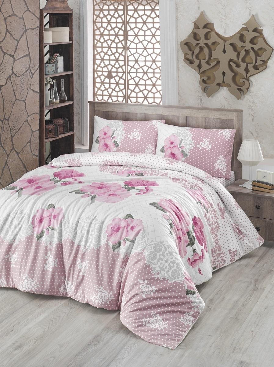 Комплект белья Altinbasak Guldem, 2-спальный, наволочки 50х70, цвет: розовый297/17/CHAR002