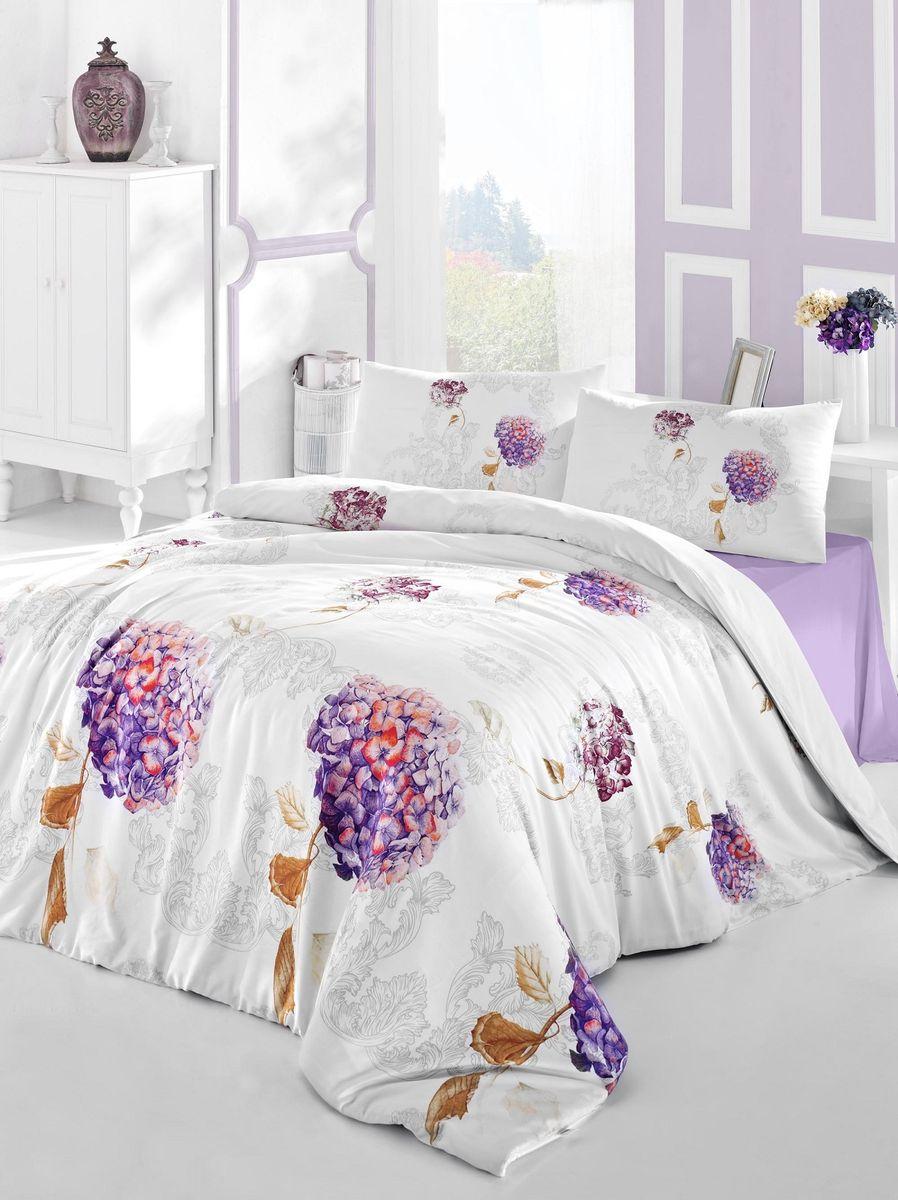 Комплект белья Altinbasak Hidra, 2-спальный, наволочки 50х70, цвет: фиолетовый297/19/CHAR002