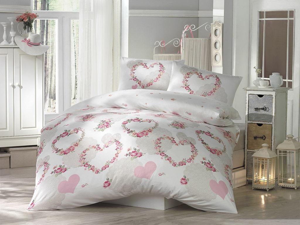 Комплект белья Altinbasak Huma, 2-спальный, наволочки 50х70, цвет: розовый297/20/CHAR002
