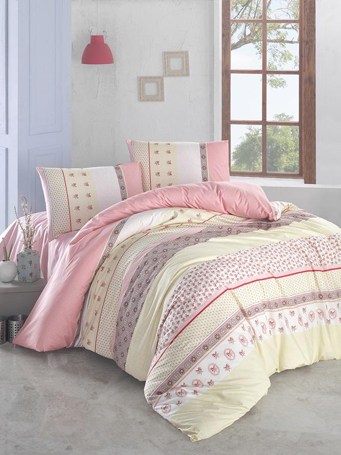 Комплект белья Altinbasak Justo, 2-спальный, наволочки 50х70, цвет: желтый297/21/CHAR002