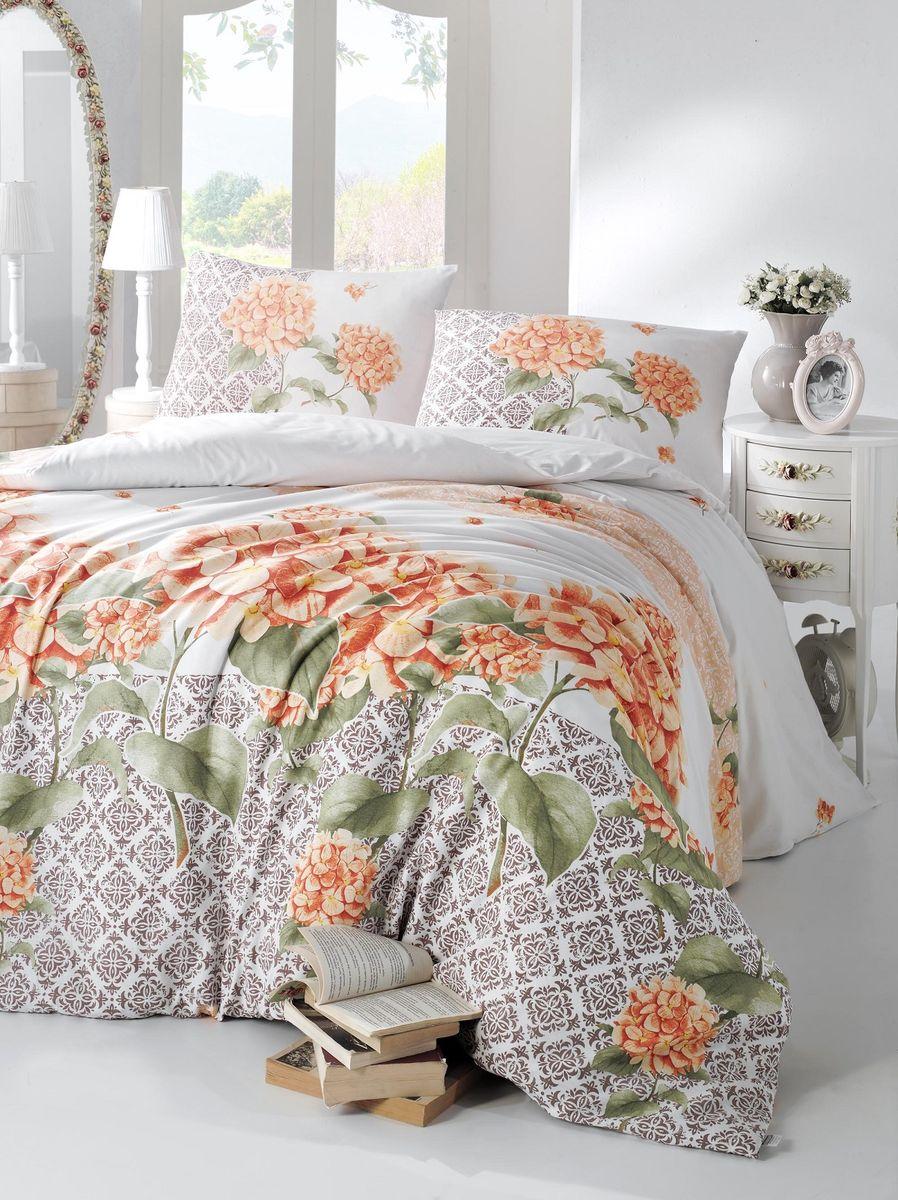 Комплект белья Altinbasak Larin, 2-спальный, наволочки 50х70, цвет: оранжевый297/23/CHAR001