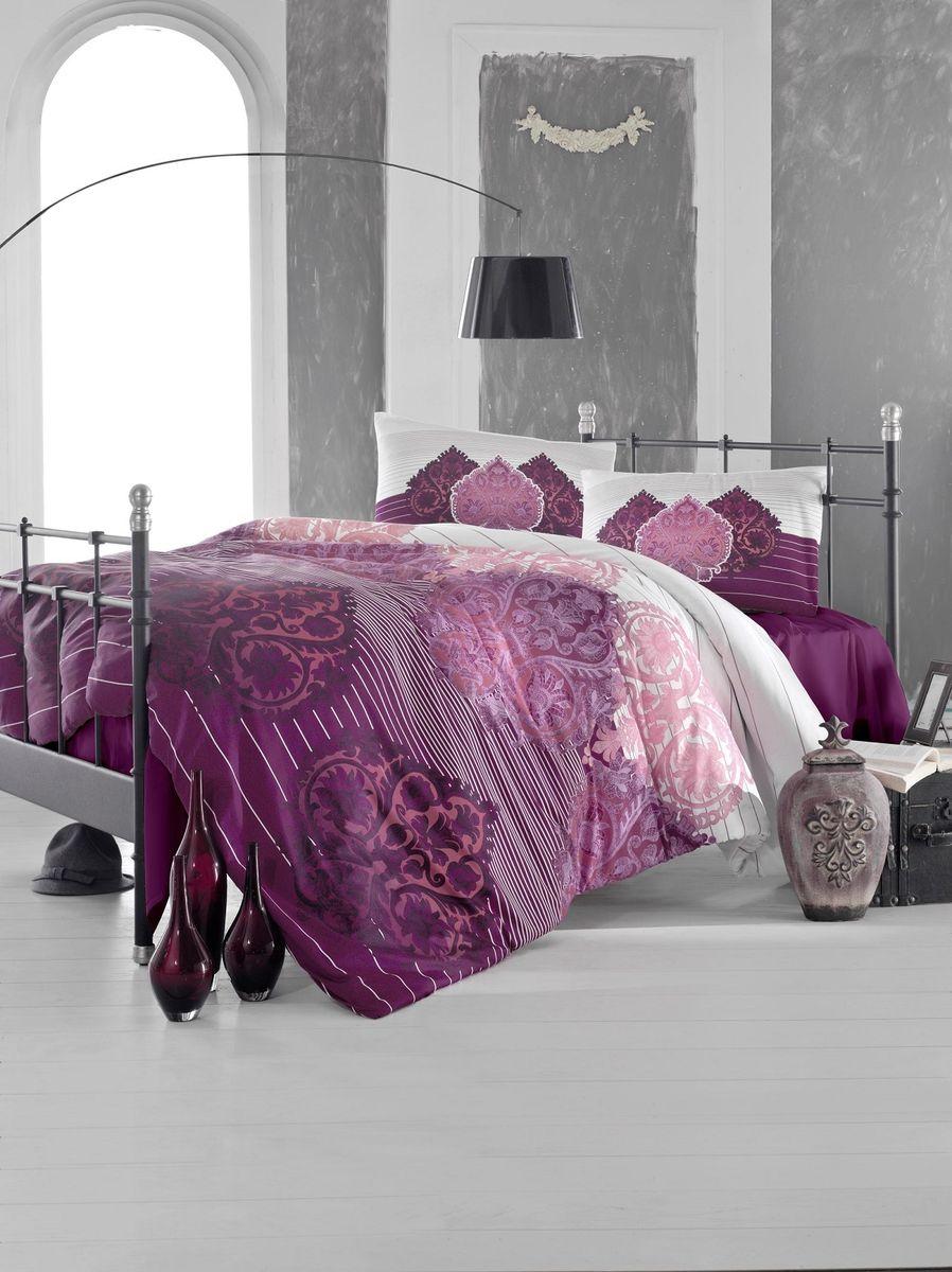 Комплект белья Altinbasak Leyan, 2-спальный, наволочки 50х70, цвет: бордовый297/24/CHAR001