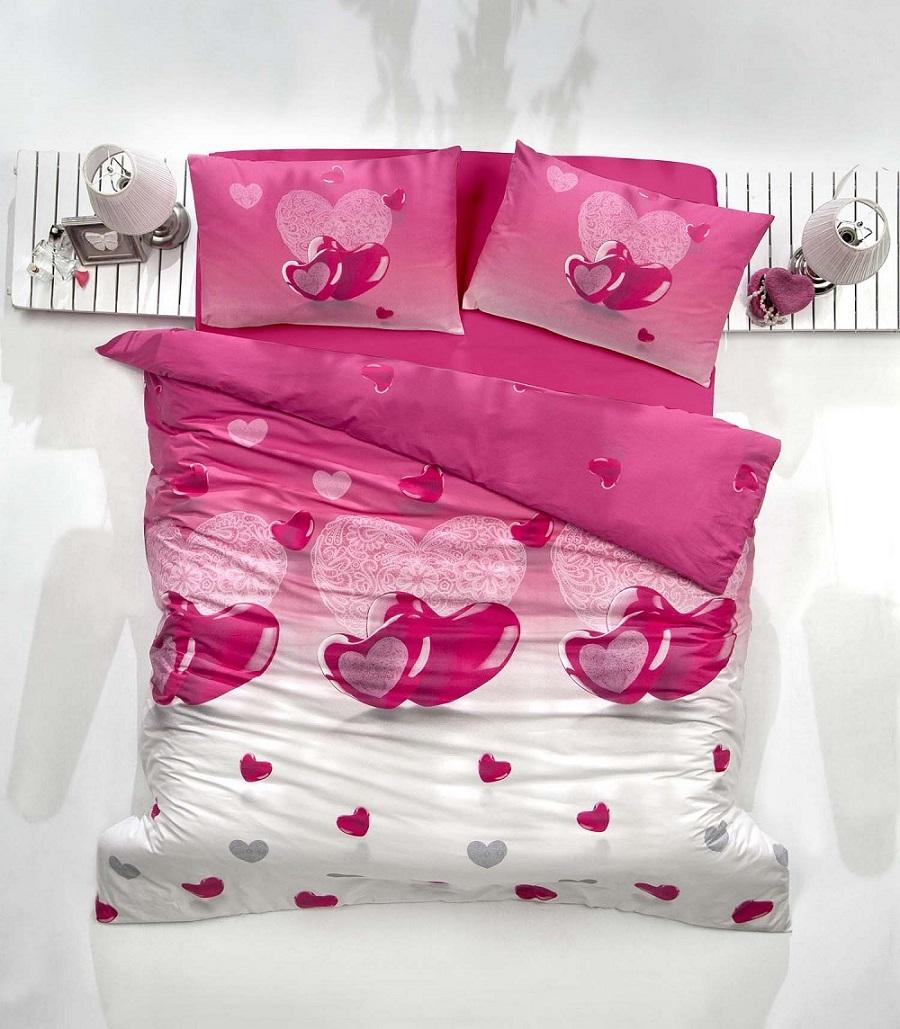 Комплект белья Altinbasak Loveliy, 2-спальный, наволочки 50х70, цвет: сиреневый297/25/CHAR002
