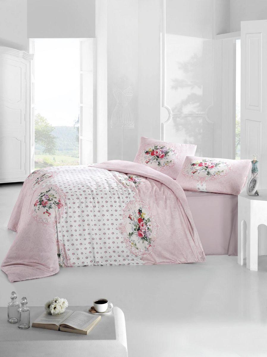 Комплект белья Altinbasak Mira, 2-спальный, наволочки 50х70, цвет: розовый297/26/CHAR003