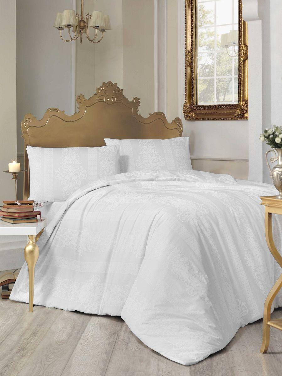 Комплект белья Altinbasak Nobby, 2-спальный, наволочки 50х70, цвет: белый297/30/CHAR001