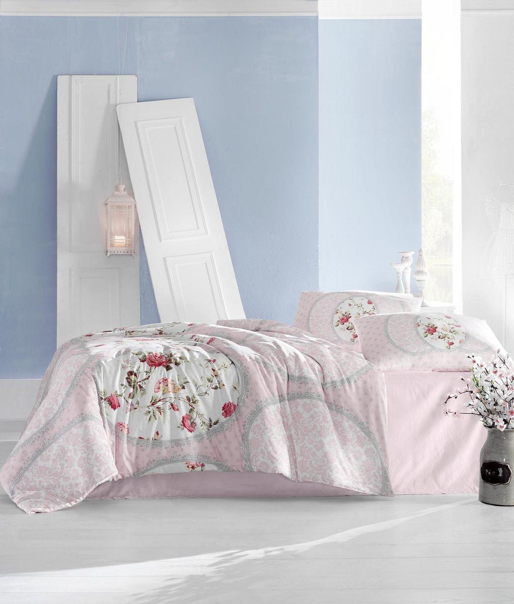 Комплект белья Altinbasak Perlita, 2-спальный, наволочки 50х70, цвет: розовый297/31/CHAR001