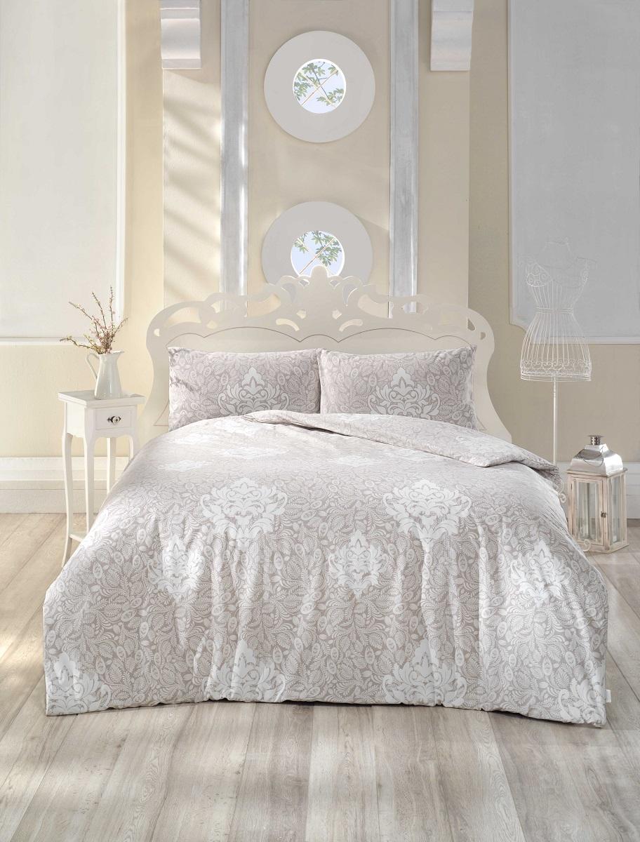 Комплект белья Altinbasak Snazzy, 2-спальный, наволочки 50х70, цвет: коричневый297/34/CHAR001