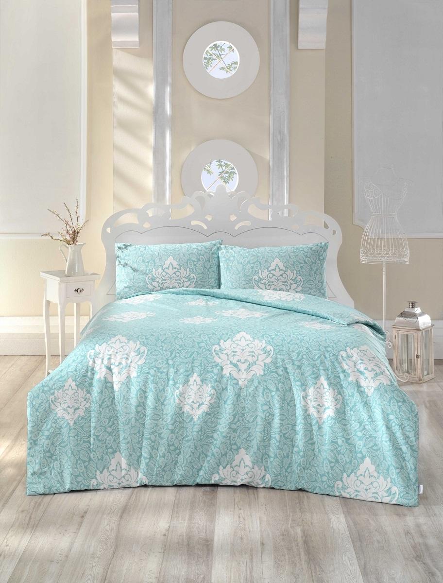 Комплект белья Altinbasak Snazzy, 2-спальный, наволочки 50х70, цвет: ментол297/34/CHAR002