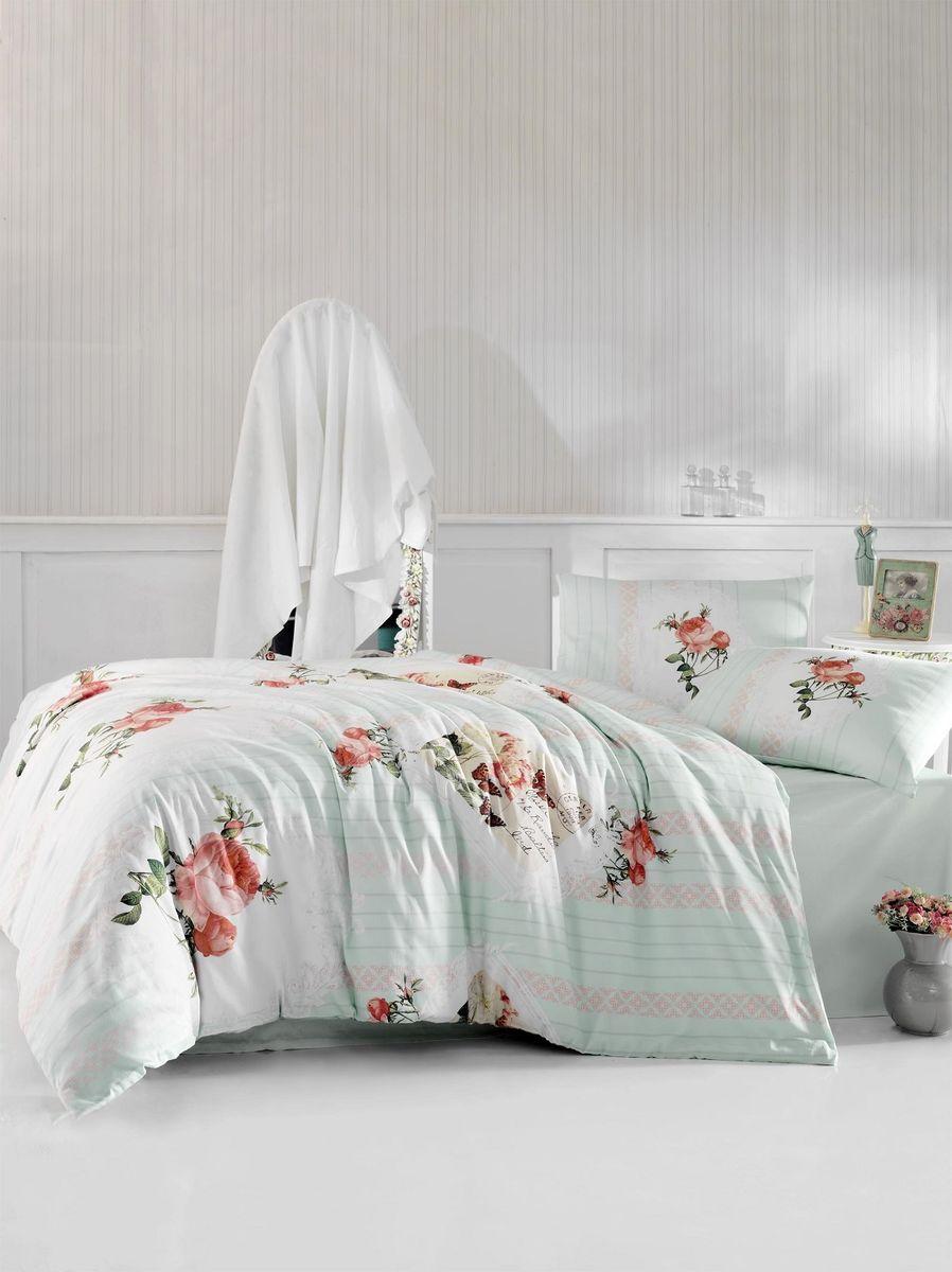 Комплект белья Altinbasak Ulya, 2-спальный, наволочки 50х70, цвет: светло-зеленый297/37/CHAR002