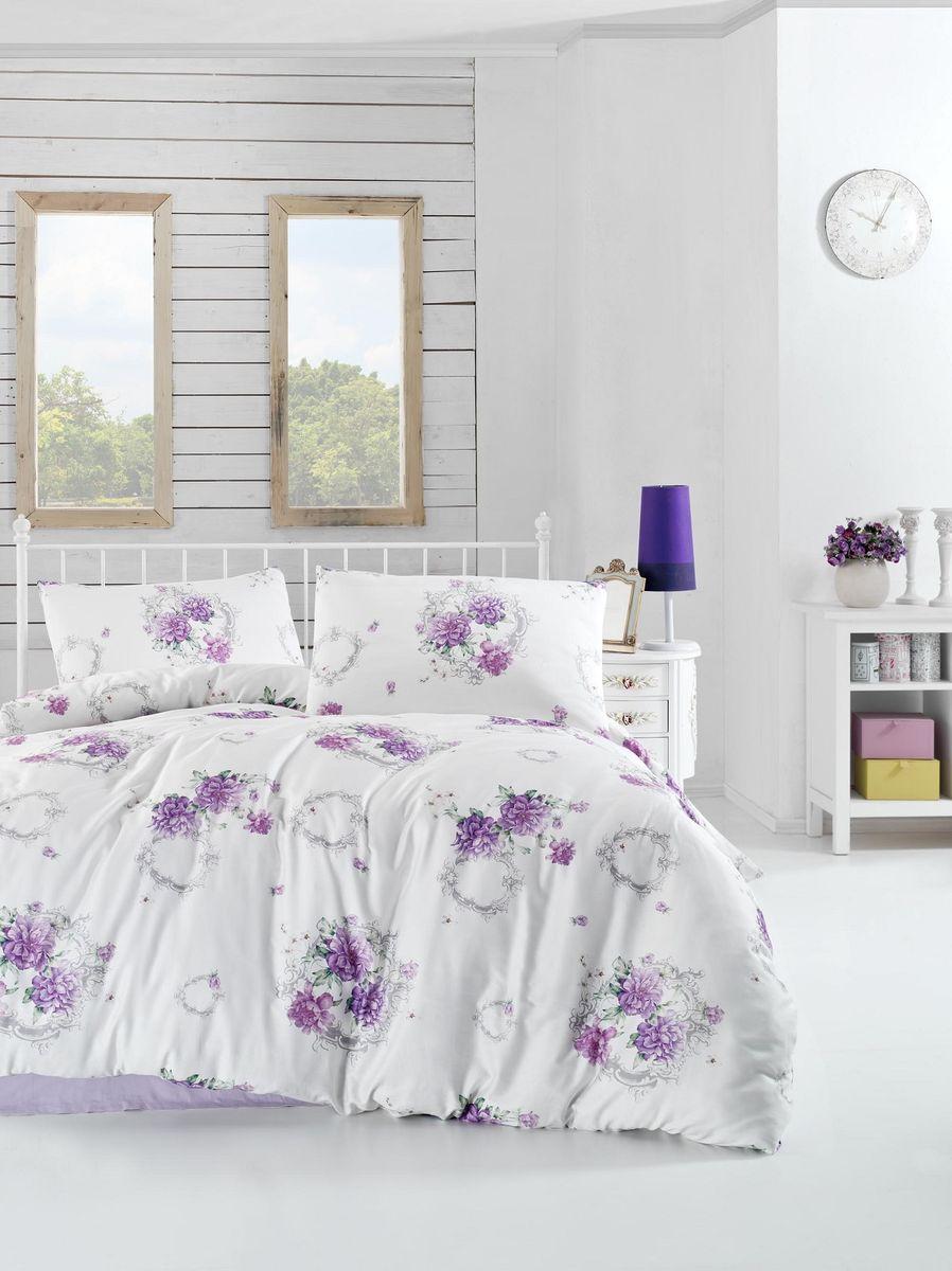 Комплект белья Altinbasak Zaira, 2-спальный, наволочки 50х70, цвет: сиреневый297/41/CHAR002